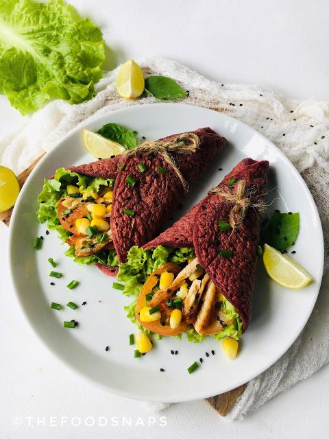 Vegan Beetroot Crepes