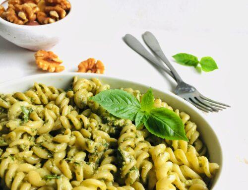 Fusilli Pasta with Basil Pesto
