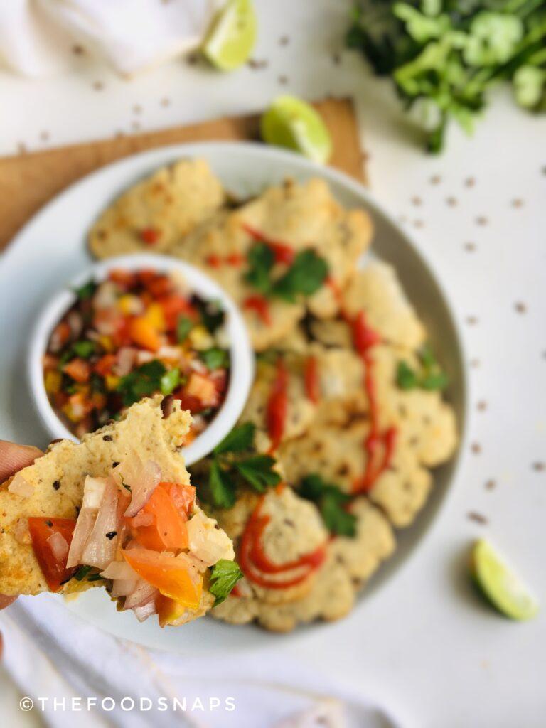 Homemade Gluten-free Oats Flour Tortillas with Salsa