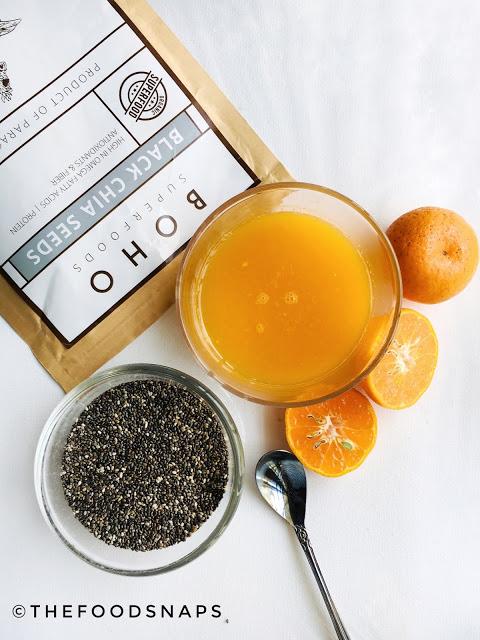 Ingredients for Mandarin Chia Parfait