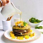Kale and Banana Pancakes