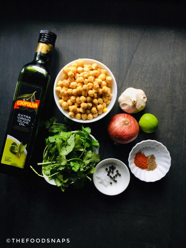 Ingredients for the Healthy Vegan Falafels