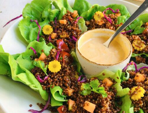 Butterhead Lettuce Quinoa Cups