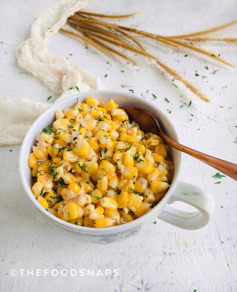 Cheesy Masala Corn in a Cup
