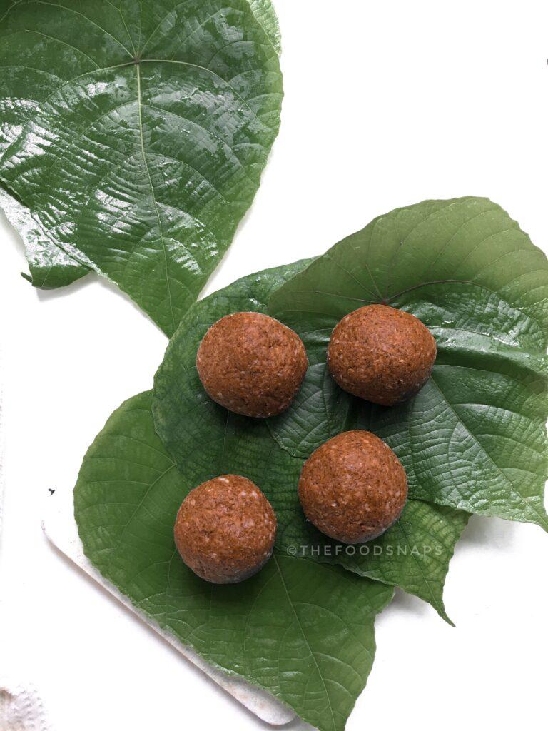 Uncooked Halapa Dough Balls