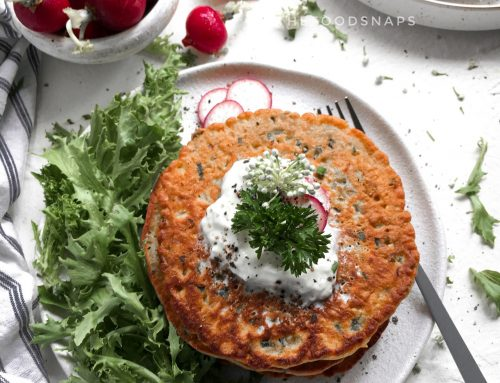 Chickpea Flour and Vegetable Pancakes